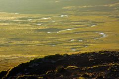 Meanders in Iceland royalty free stock photo