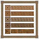 Meandr di legno dell'ornamento del confine, pavimento di parquet di progettazione, struttura senza cuciture Fotografie Stock Libere da Diritti
