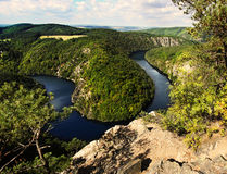 Meandro de Moldava Imagen de archivo libre de regalías