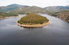 Meandro del fiume di Alagon (Spagna) Immagine Stock Libera da Diritti