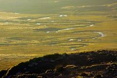 Meandro em Islândia foto de stock royalty free