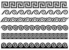 Meandro y onda. Ornamento del griego clásico. ilustración del vector