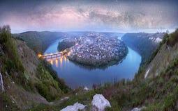 Meandros de Dniestr Foto de archivo libre de regalías