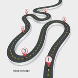 Meandrować 3d drogowego infographic pojęcie na białym tle Zdjęcie Stock
