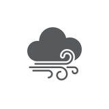 Meandruje i chmury wietrzeją ikonę odizolowywającą na białym tle również zwrócić corel ilustracji wektora ilustracji
