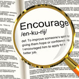 Meaning of 'Encourage' Stock Photos