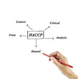 The meaning of HACCP concept (Hazard Analysis of Critical Contro stock images