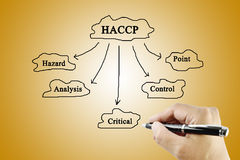 The meaning of HACCP concept (Hazard Analysis of Critical Control Points) a principle stock images