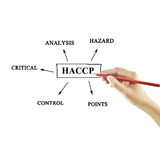 The meaning of HACCP concept (Hazard Analysis of Critical Control Points) a principle. For used in manufacturing royalty free stock photo
