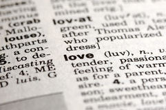 Meaning of Love Stock Image