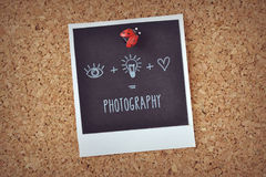 Meaning of photography. To see, think and feel: the art of photography Royalty Free Stock Image