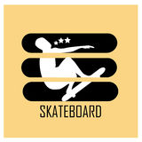 The meaning of skateboard Stock Photography