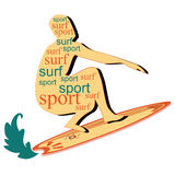 The meaning of surf Royalty Free Stock Images