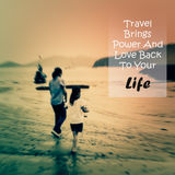 Meaningful quote on blurred people background Royalty Free Stock Image