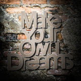 Meaningful word on old brick wall background Royalty Free Stock Photography