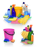 Means for cleaning isolated on white background Royalty Free Stock Photo