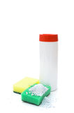Means for cleaning surfaces, sponges to clean Stock Photo