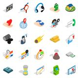 Means of subsistence icons set, isometric style Stock Photo