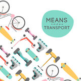 Means of transport background illustration Royalty Free Stock Image