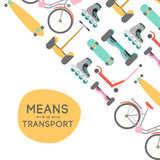Means of transport background illustration Royalty Free Stock Images