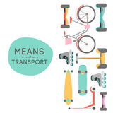 Means of transport background illustration Stock Photo