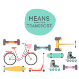 Means of transport background illustration Royalty Free Stock Photos