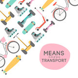 Means of transport background illustration Stock Image
