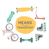 Means of transport background illustration Stock Images