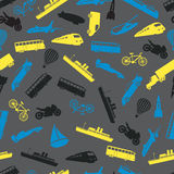 Means of transport pattern eps10 Royalty Free Stock Photography