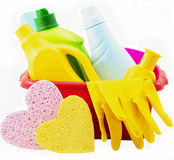 Means for washing and cleaning Royalty Free Stock Photos