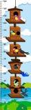 Mearsuring diagram för tillväxt med fåglar i voljär royaltyfri illustrationer