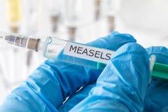 Measels szczepienie Fotografia Stock