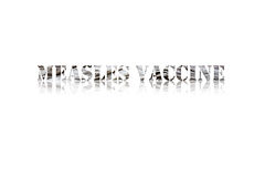 Measles Vaccine Words on White Royalty Free Stock Photography