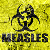 Measles concept background Stock Photo
