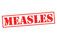 MEASLES. Red Rubber Stamp over a white background stock image