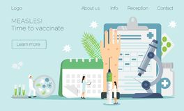 Time to vaccinate vector illustration