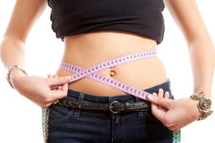 Measring waist Stock Images