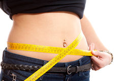 Measring waist Royalty Free Stock Photography