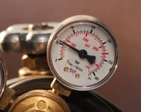 Measure 02. Instrument for measure of gas pressure Stock Photos