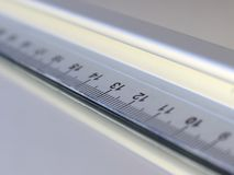 Measure 13. Extreme close up of a ruler with number 13 in focus Royalty Free Stock Photography