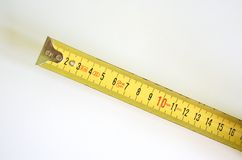 Measure. Yellow measure with white background royalty free stock images