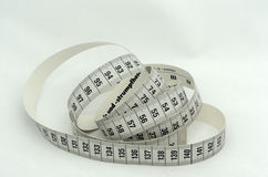 Measure. Ment on a white background royalty free stock photography
