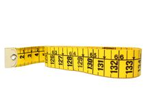 Measure. Tape measure on white background Stock Images