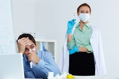 Measure against flu Stock Images