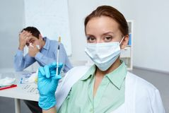 Measure against flu Stock Photography