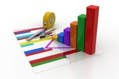 Measure bar graph Stock Photos