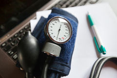 Measure blood pressure Royalty Free Stock Photo