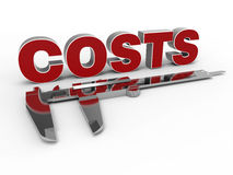 Measure costs concept Royalty Free Stock Photos
