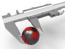 Measure earth globe concept Stock Photos