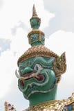 Measure giant in Arun temple of Bangkok, Thailand, face closeup.  royalty free stock photos